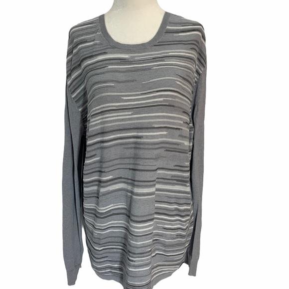 Calvin Klein Lightweight Crewneck Sweater Striped